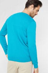 Cortefiel Camisola gola em bico Azul