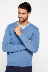 Cortefiel Jersey cuello pico Azul