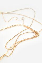 Cortefiel Colgante de cadenas Amarillo