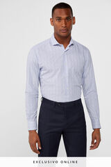 Cortefiel Camisa slim fit estampada Azul