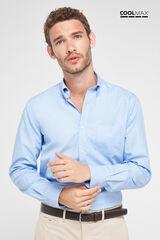 Cortefiel Camisa lisa COOLMAX® Azul