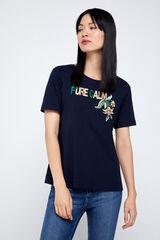 Cortefiel Camiseta orgánica estampada Azul