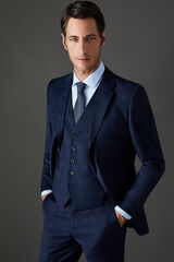 Cortefiel Americana traje cuadros slim fit Azul
