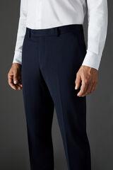 Cortefiel Calças lisas azul marinho slim fit Azul
