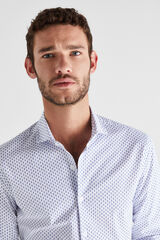 Cortefiel Camisa estampada slim fit Azul