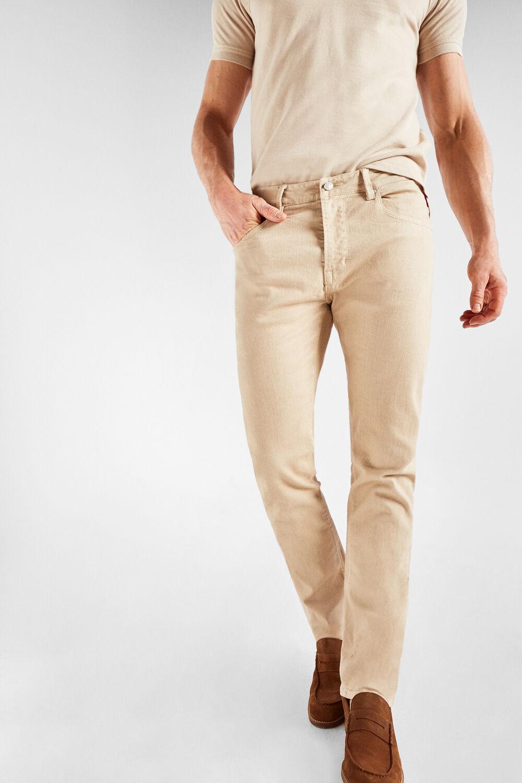 b2be080473 Cortefiel Pantalón 5 bolsillos color slim fit Beige