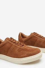 Cortefiel Sneaker cordones suela goma Marrón
