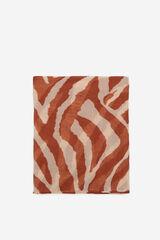 Cortefiel Fular estampado de tigre Marrón