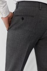Cortefiel Pantalón traje gris slim fit antimanchas Gris