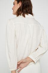 Cortefiel Camisa topos metálicos Blanco