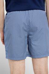 Cortefiel Calção de banho estampado geométrico Azul