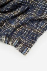 Cortefiel Fular stilo tweed azul marino Azul