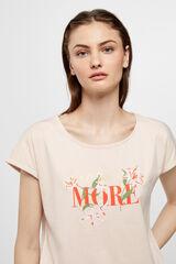 Cortefiel Camiseta bordado Rosa