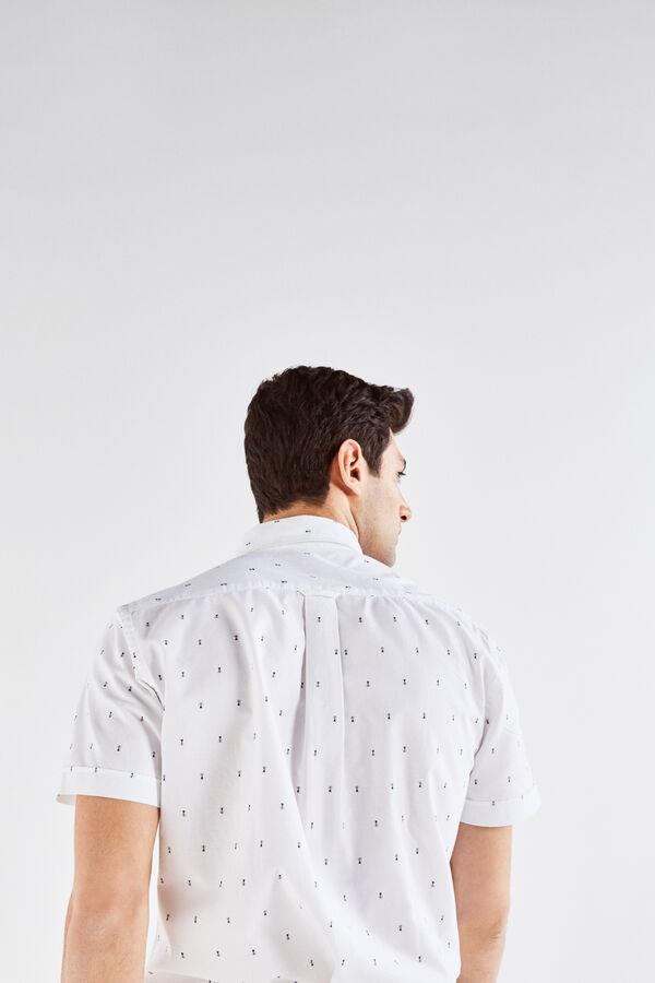 4cbc417fcb Cortefiel Camisa de manga corta estampada Blanco