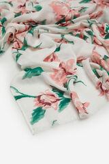 Cortefiel Lenço de seda estrutura espiga estampado de flores Varios