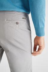 Cortefiel Pantalón chino microestampado regular fit Gris