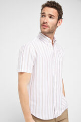 Cortefiel Camisa manga corta Beige