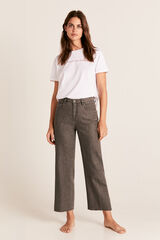 Cortefiel Jeans cropped palazzo Cinzento