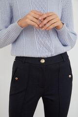 Cortefiel Pantalón de punto Azul