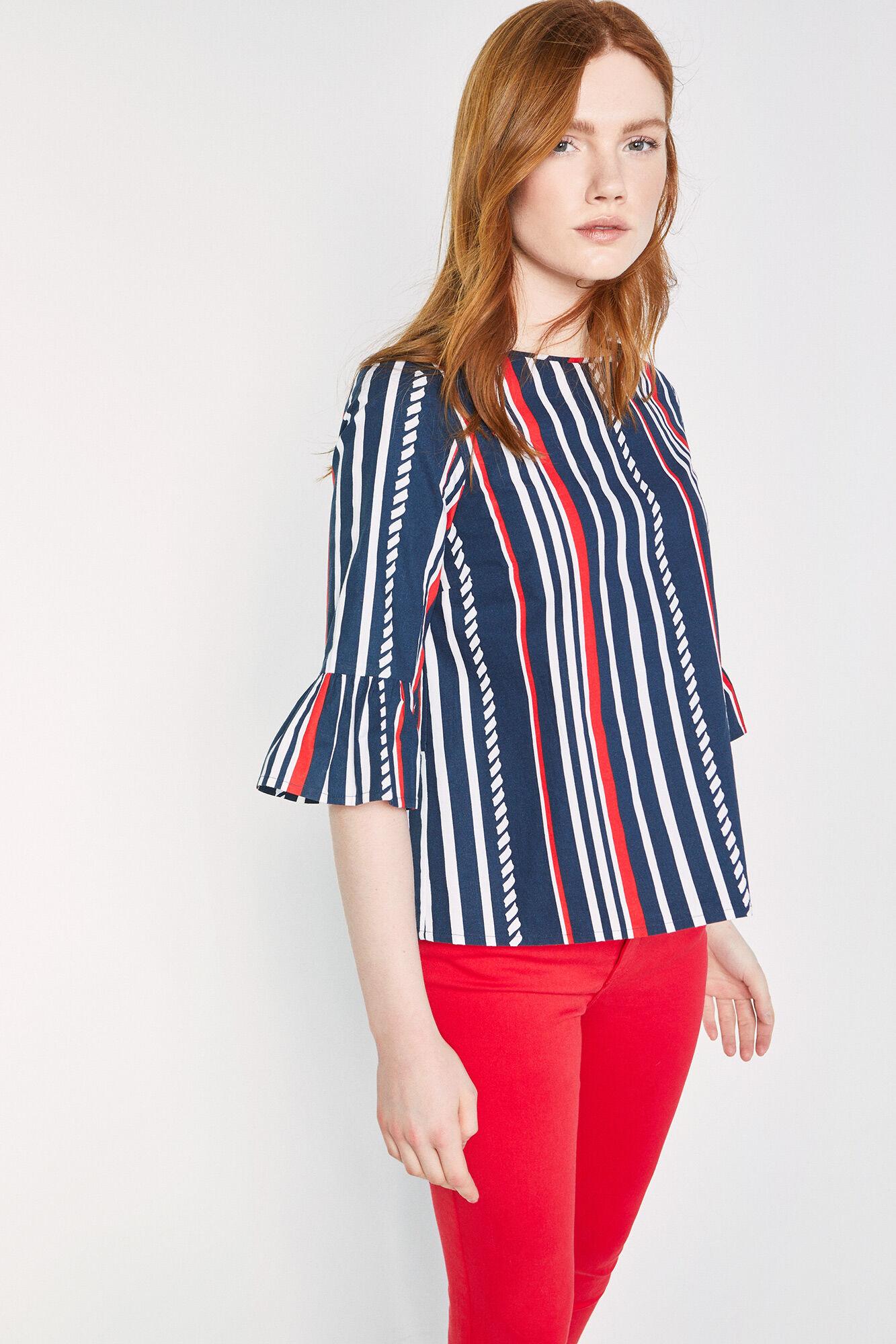 dc5e004e8e Blusa de popelín con manga farol