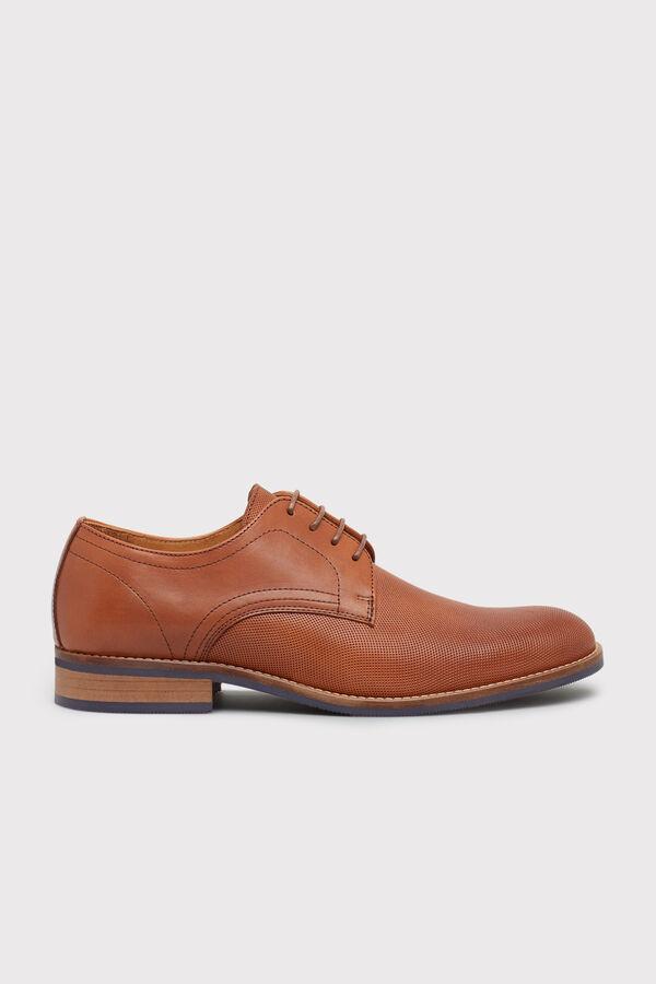 Cortefiel Zapato blucher piso goma Marrón b35983248b43