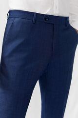 Cortefiel Pantalón traje azul slim fit antimanchas Azul