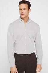 Cortefiel Camisa manga larga Gris