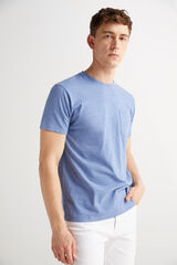 Fifty Outlet Camiseta algodón slub Morado