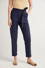 Fifty Outlet Pantalón rústico Azul marino
