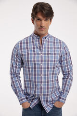 Fifty Outlet Camisa Oxford Cuadros Azul marino