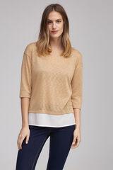 Fifty Outlet Camiseta combinada Amarillo