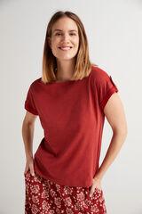 Fifty Outlet Camiseta algodón orgánico Rojo
