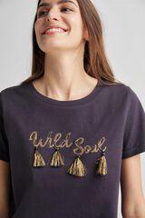 Fifty Outlet Camiseta punto de algodón Negro