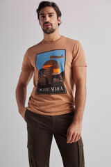 Fifty Outlet Camiseta abril camel