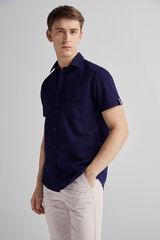 Fifty Outlet Camisa lino lisa Lifeway Azul