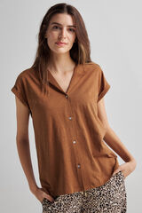 Fifty Outlet T-shirt orgânica beige