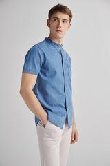 Fifty Outlet Camisa denim mao Lifeway Azul
