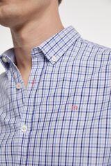 Fifty Outlet Camisa desportiva xadrez azul