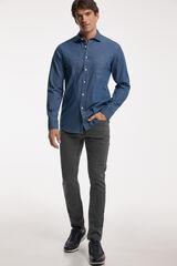 Fifty Outlet Camisa Denim Lisa Azul