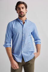 Fifty Outlet Camisa lino lisa Azul indigo