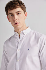 Fifty Outlet Camisa pinpoint lisa Blanco