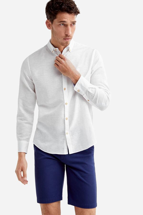 69c19a47ac Fifty Factory Camisa lino Blanco · Comprar