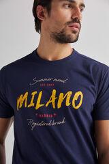 Fifty Outlet Camiseta estampada brandy Azul marino
