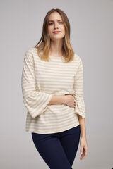 Fifty Outlet Camiseta rayas lurex Crudo