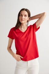 Fifty Outlet Camiseta cuello pico Rojo