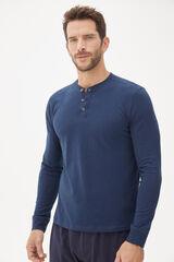 Fifty Outlet Camiseta contapeta y botones Azul