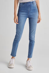 Fifty Outlet Pantalón jegging denim Azul