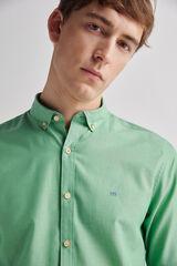 Fifty Outlet Camisa popelín lisa Verde