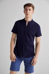 Fifty Outlet Camisa piqué Mao Azul marino