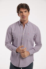 Fifty Outlet Camisa Twill Cuadros Azul